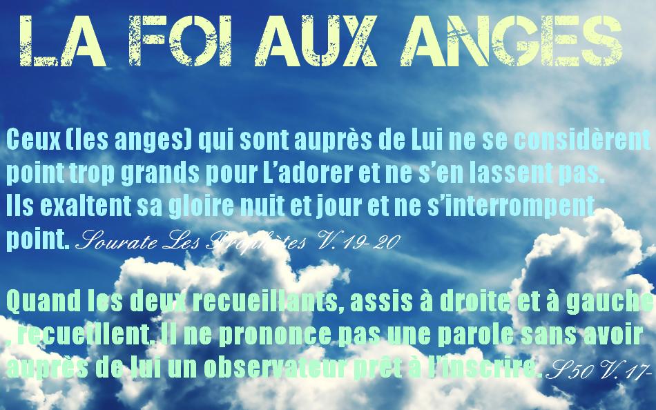 La foi aux anges